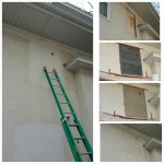 Stucco patching.