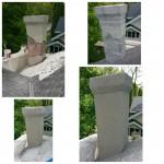 Chimney stucco repairs.