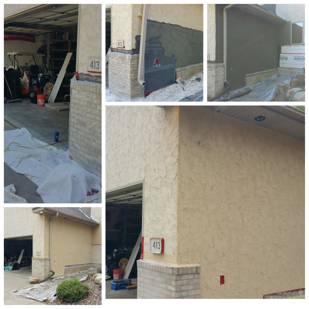 Stucco repair to match
