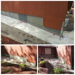New Stucco over foundation.