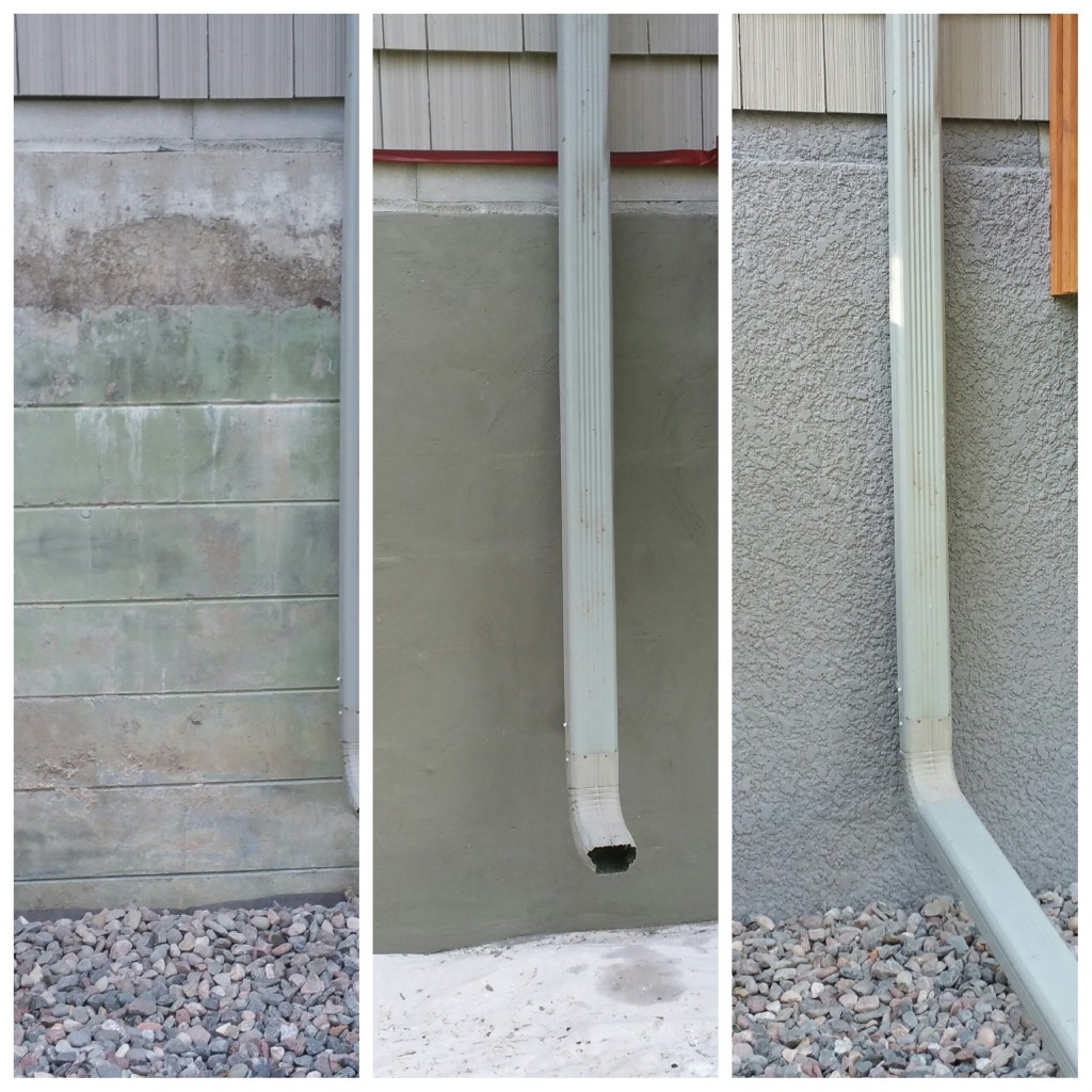 Stucco foundation.