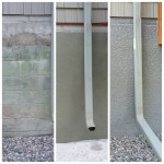 Stucco foundation.