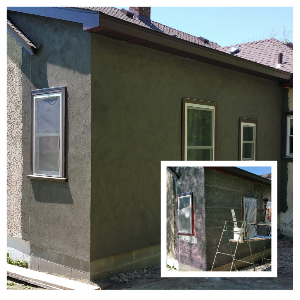 Stucco addition.